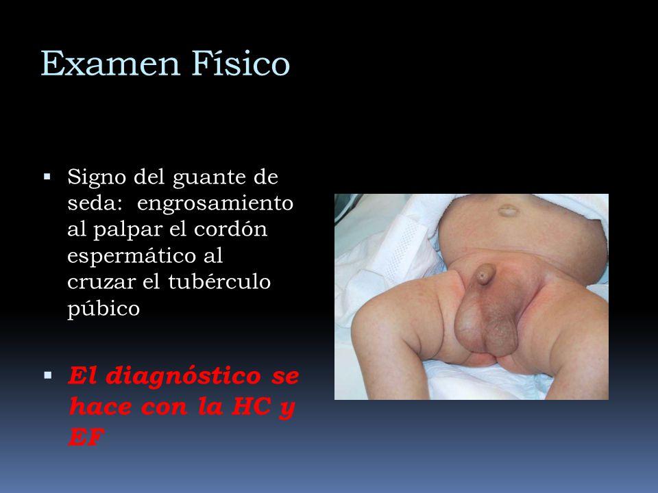 Examen Físico El diagnóstico se hace con la HC y EF
