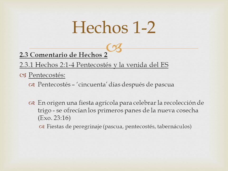 Hechos 1-2 2.3 Comentario de Hechos 2