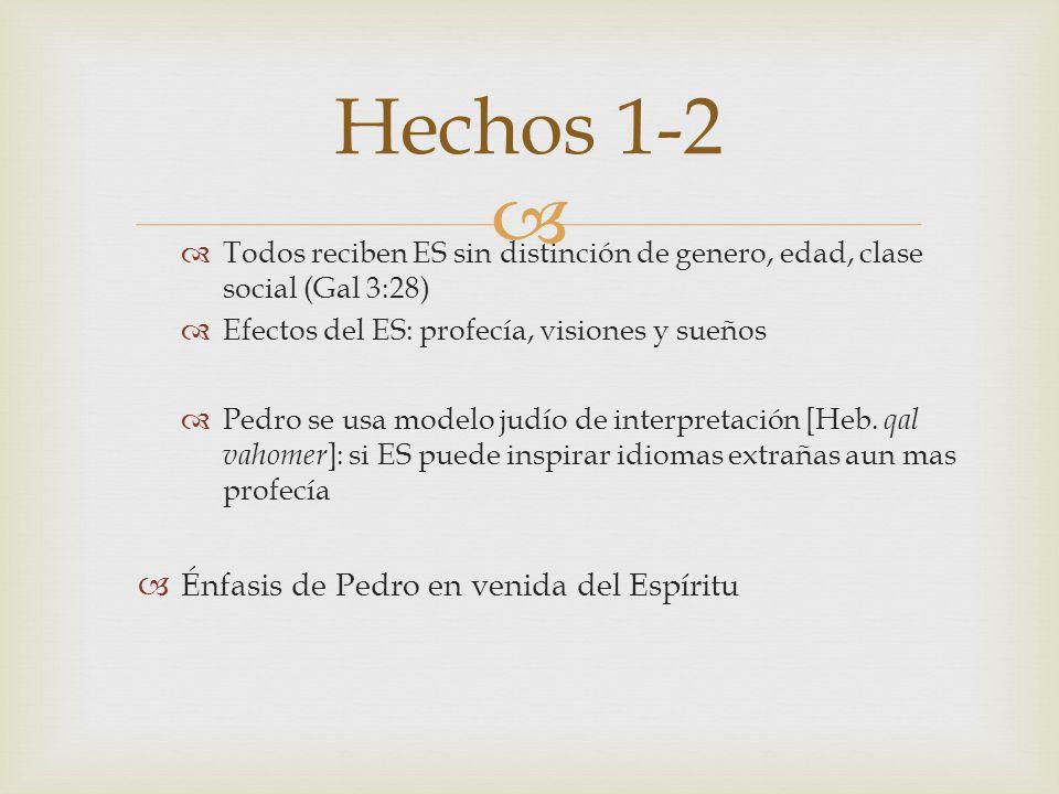 Hechos 1-2 Énfasis de Pedro en venida del Espíritu