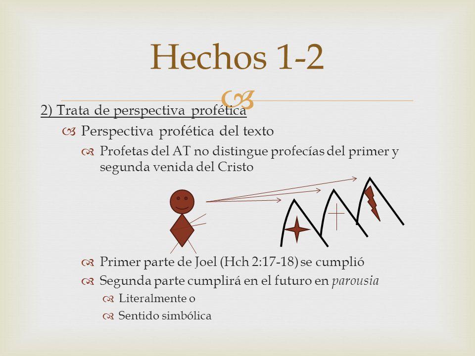 Hechos 1-2 2) Trata de perspectiva profética