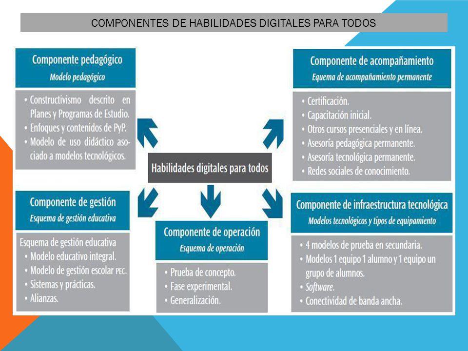 COMPONENTES DE HABILIDADES DIGITALES PARA TODOS