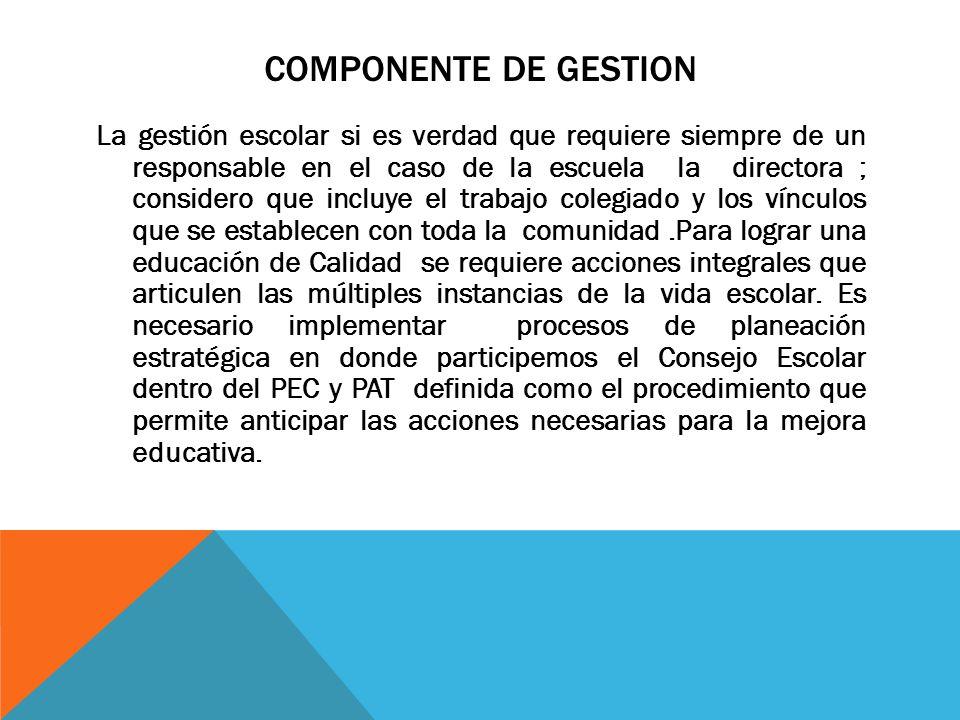 COMPONENTE DE GESTION