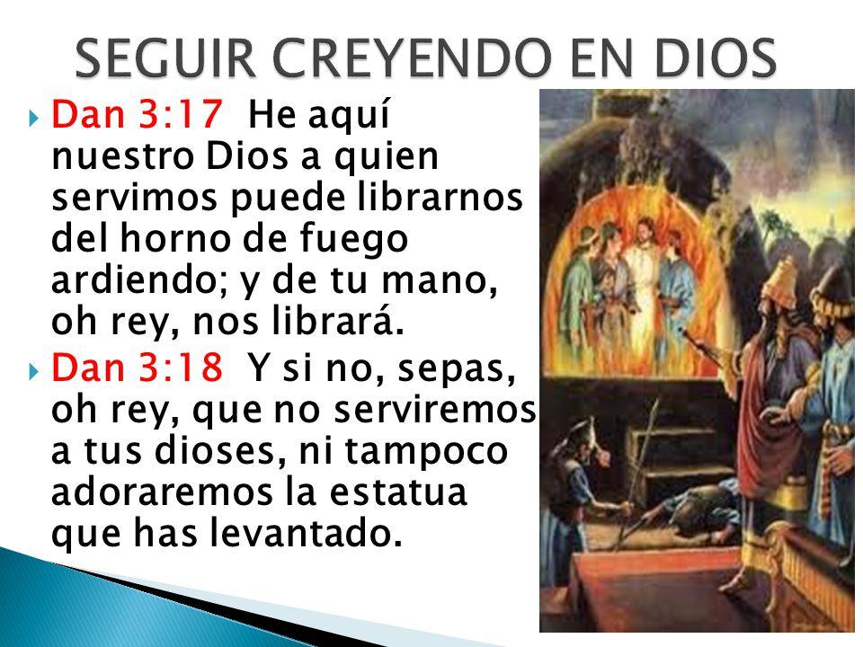 SEGUIR CREYENDO EN DIOS