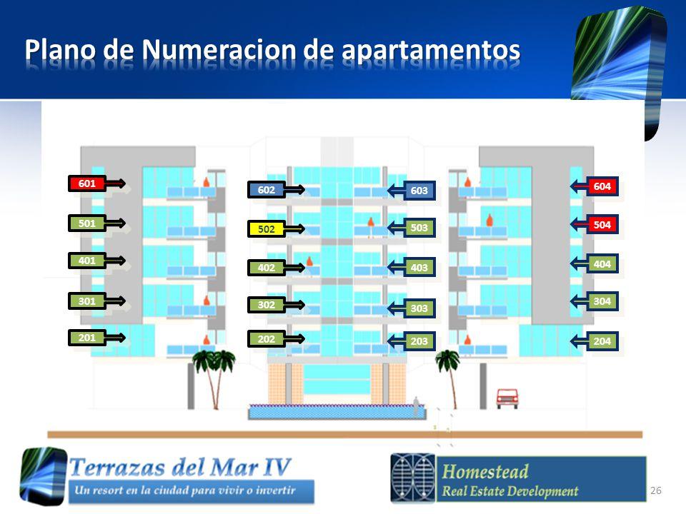 Plano de Numeracion de apartamentos