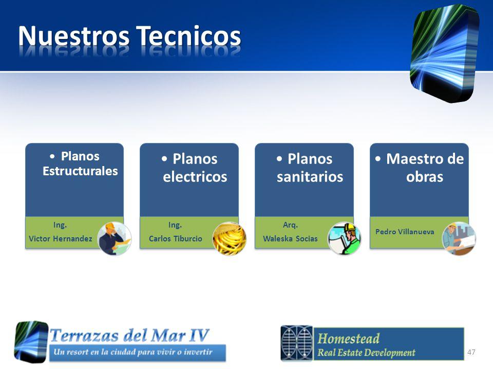 Nuestros Tecnicos Planos electricos Planos sanitarios Maestro de obras