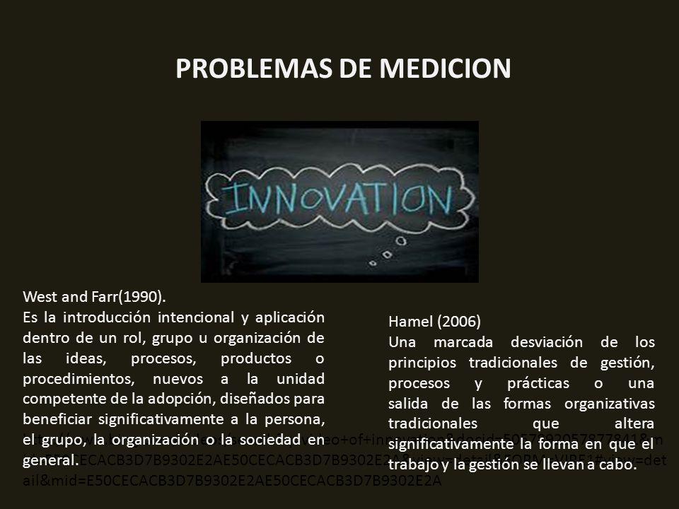 PROBLEMAS DE MEDICION West and Farr(1990).