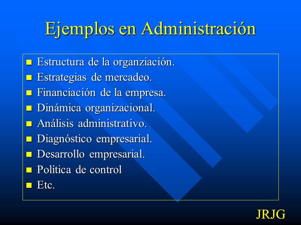 Ejemplos en Administración