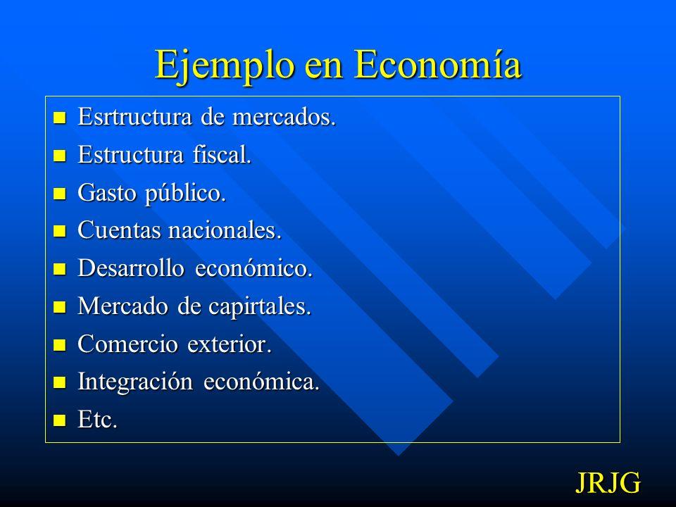 Ejemplo en Economía JRJG JRJG Esrtructura de mercados.