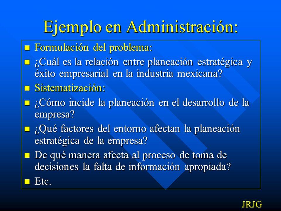 Ejemplo en Administración: