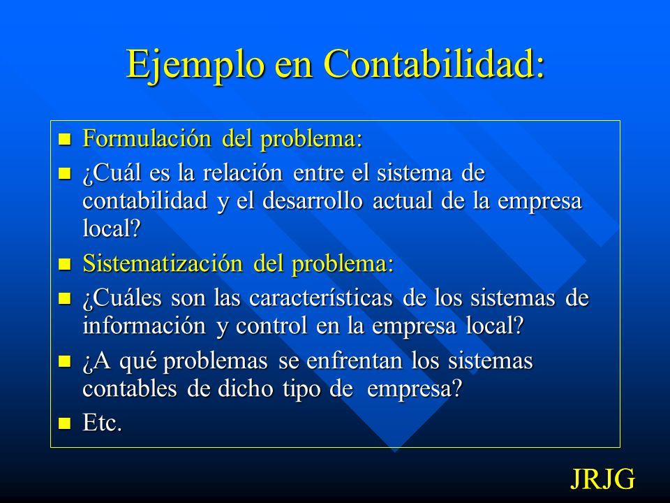 Ejemplo en Contabilidad: