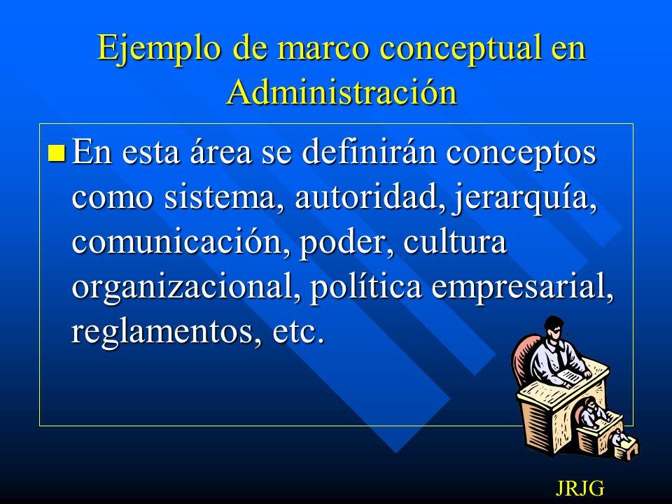 Ejemplo de marco conceptual en Administración