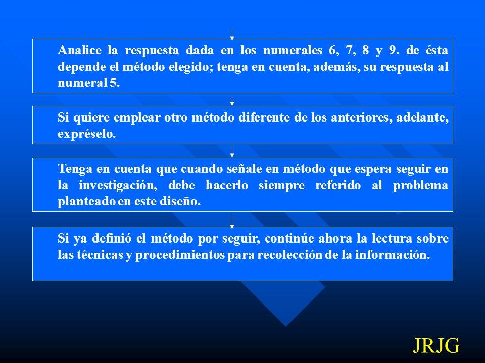 Analice la respuesta dada en los numerales 6, 7, 8 y 9