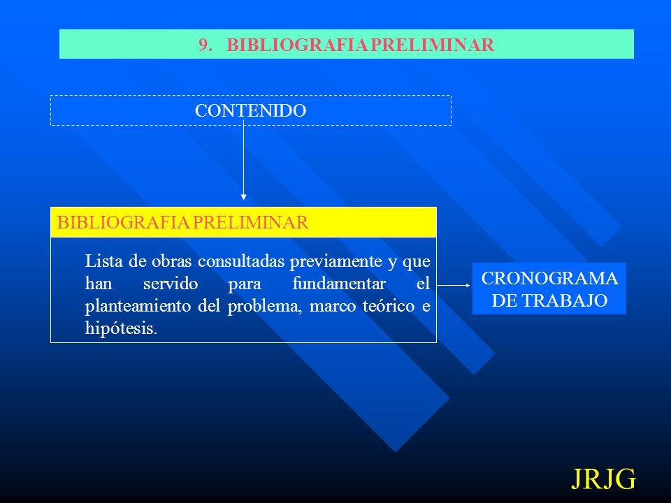 9. BIBLIOGRAFIA PRELIMINAR