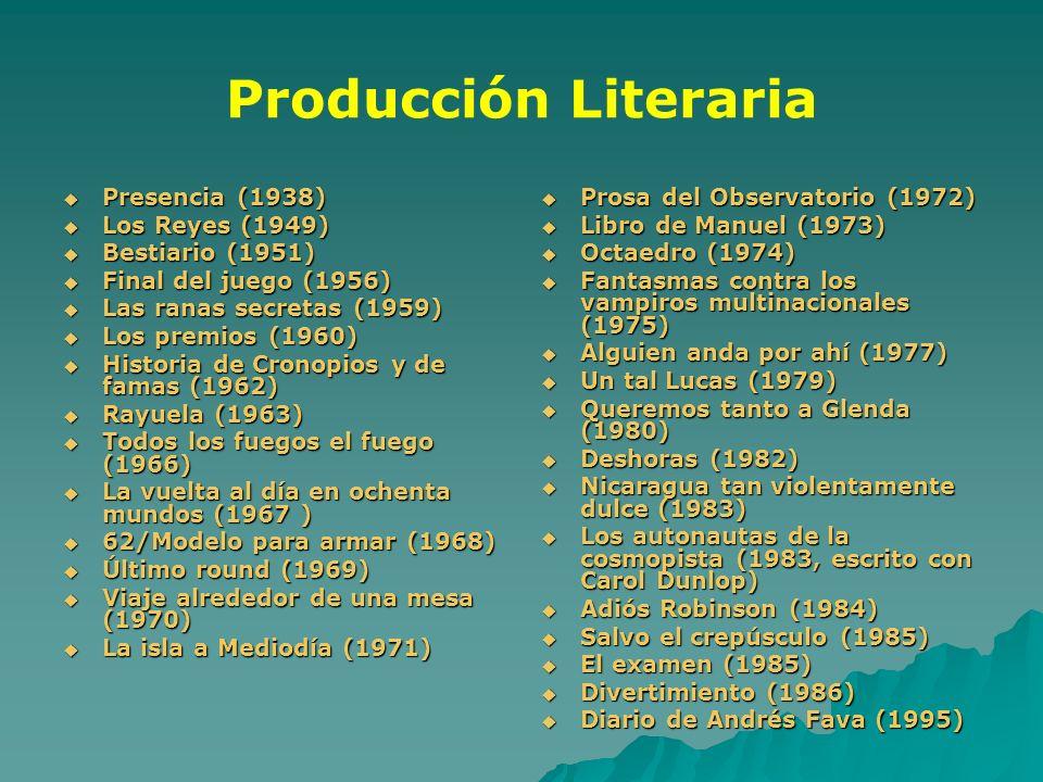 Producción Literaria Presencia (1938) Los Reyes (1949)