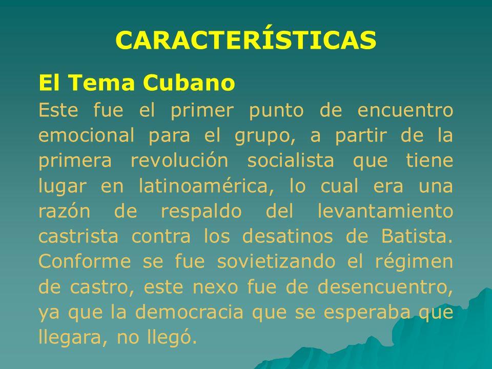 CARACTERÍSTICAS El Tema Cubano