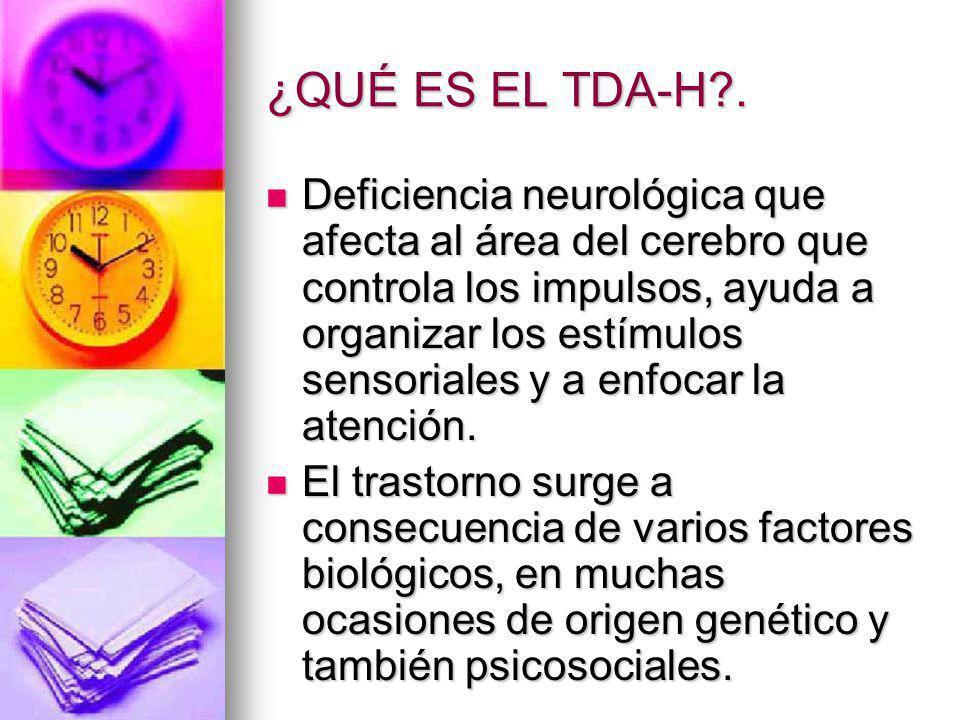 ¿QUÉ ES EL TDA-H .