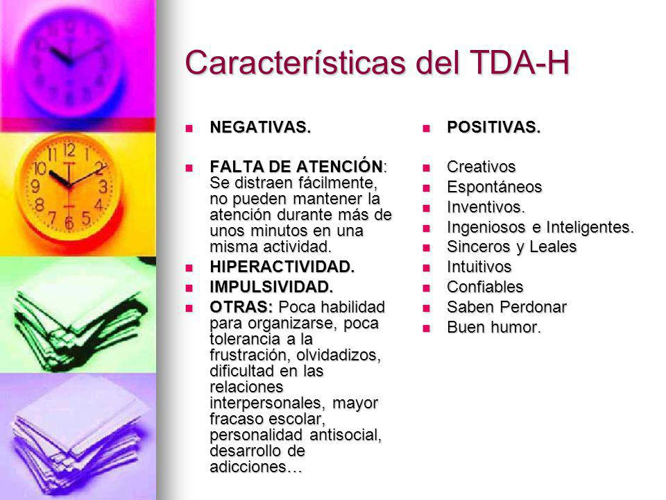 Características del TDA-H