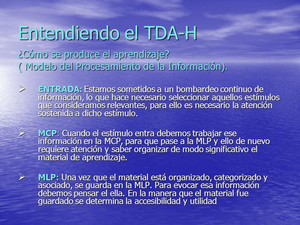 Entendiendo el TDA-H ¿Cómo se produce el aprendizaje