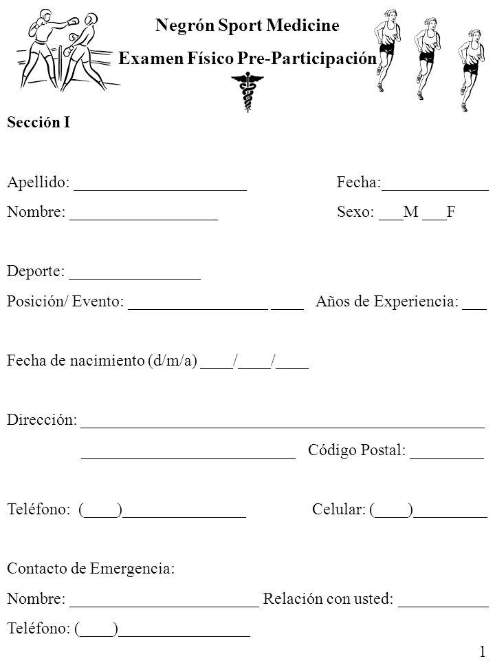 Examen Físico Pre-Participación