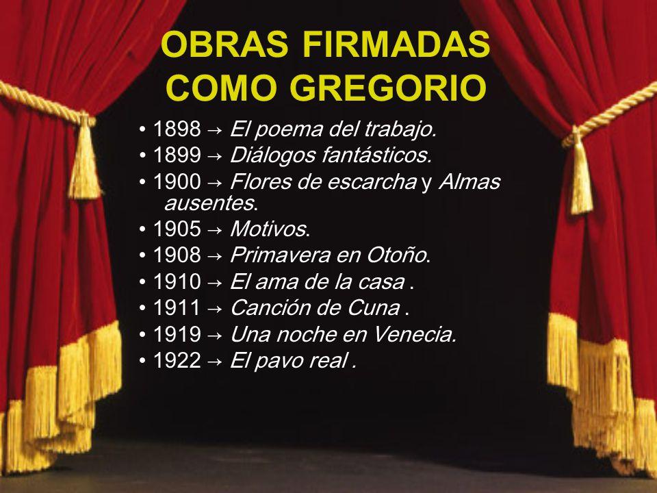 OBRAS FIRMADAS COMO GREGORIO