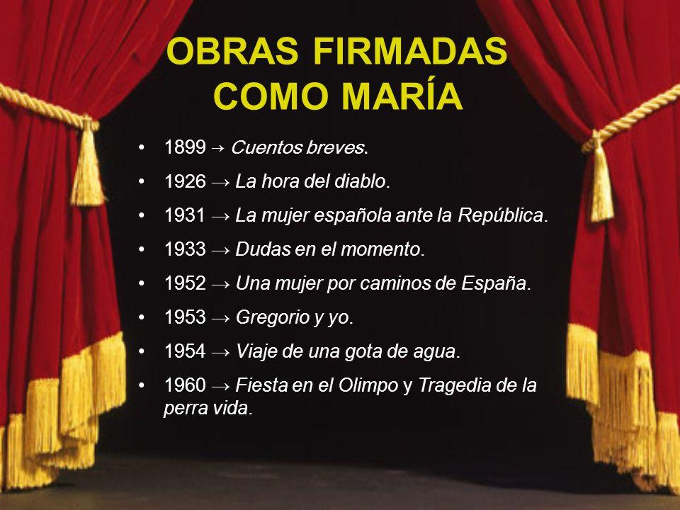 OBRAS FIRMADAS COMO MARÍA