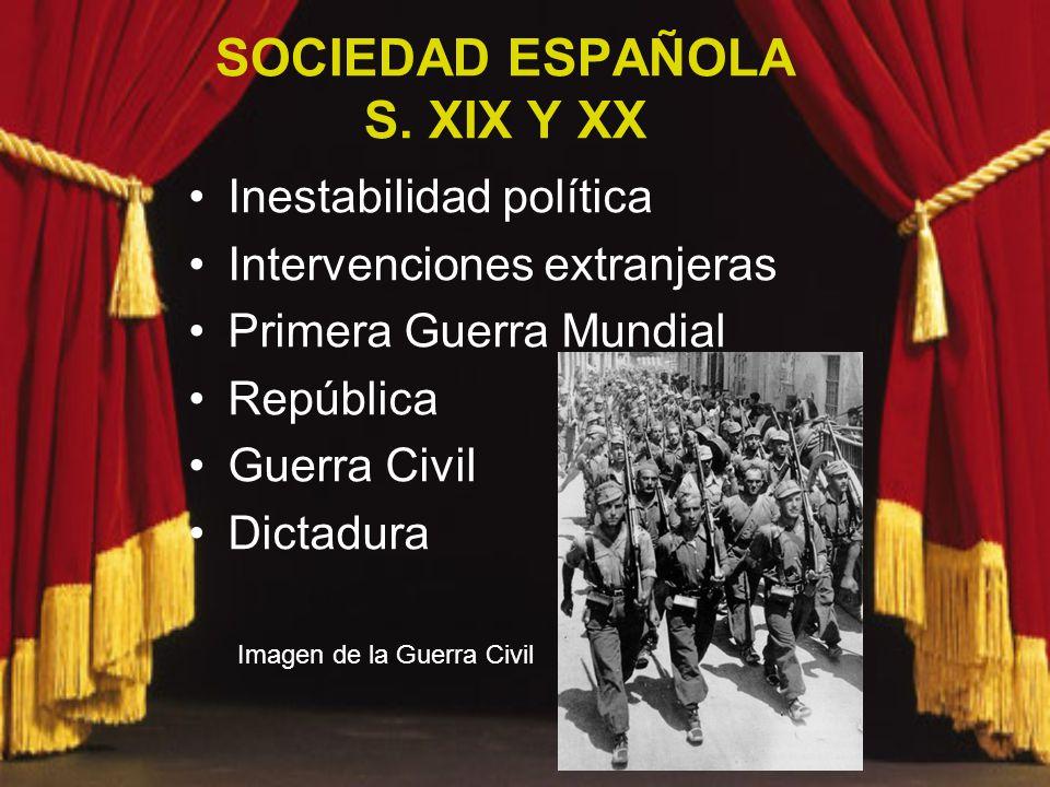 SOCIEDAD ESPAÑOLA S. XIX Y XX