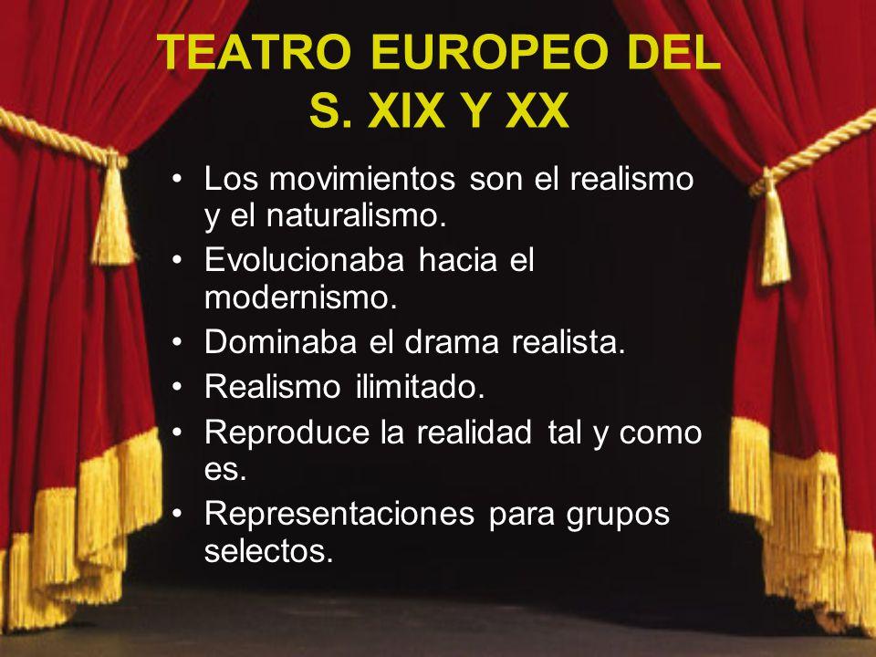 TEATRO EUROPEO DEL S. XIX Y XX