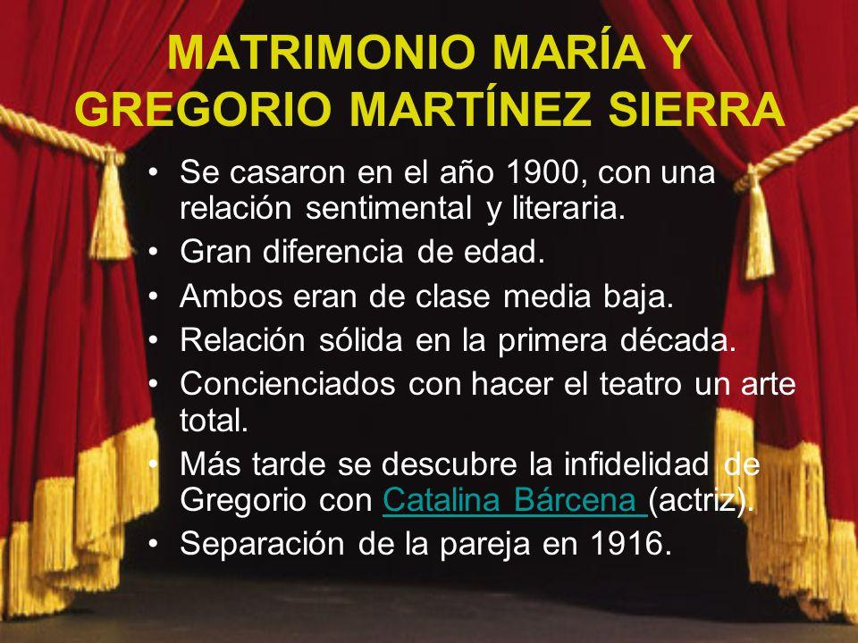MATRIMONIO MARÍA Y GREGORIO MARTÍNEZ SIERRA