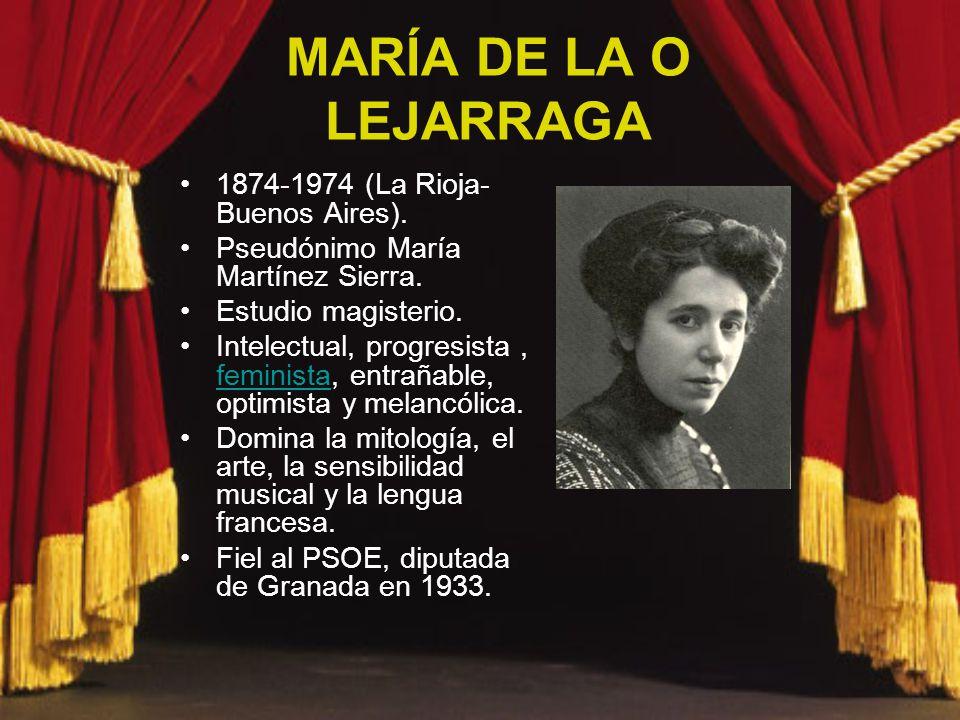 MARÍA DE LA O LEJARRAGA 1874-1974 (La Rioja- Buenos Aires).
