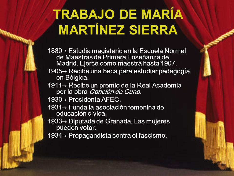 TRABAJO DE MARÍA MARTÍNEZ SIERRA
