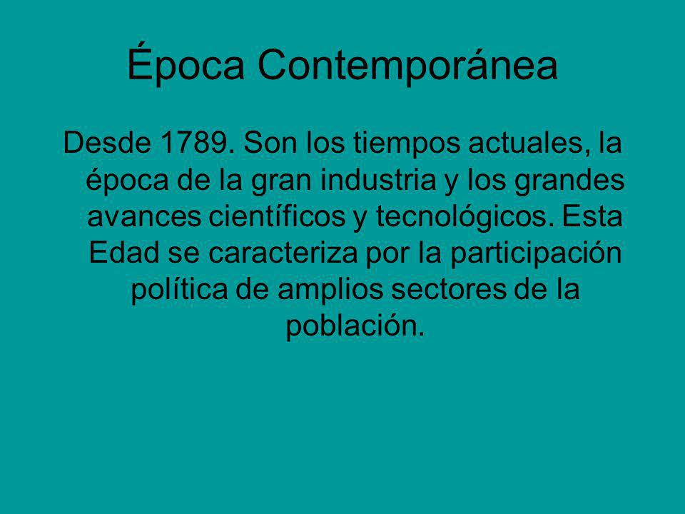 Época Contemporánea