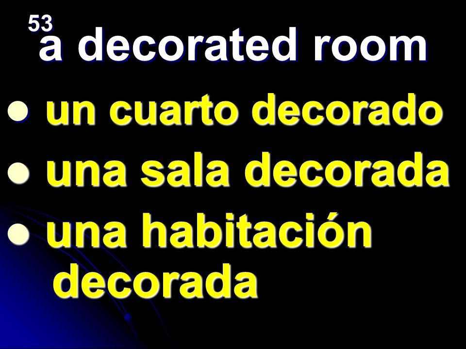 una habitación decorada