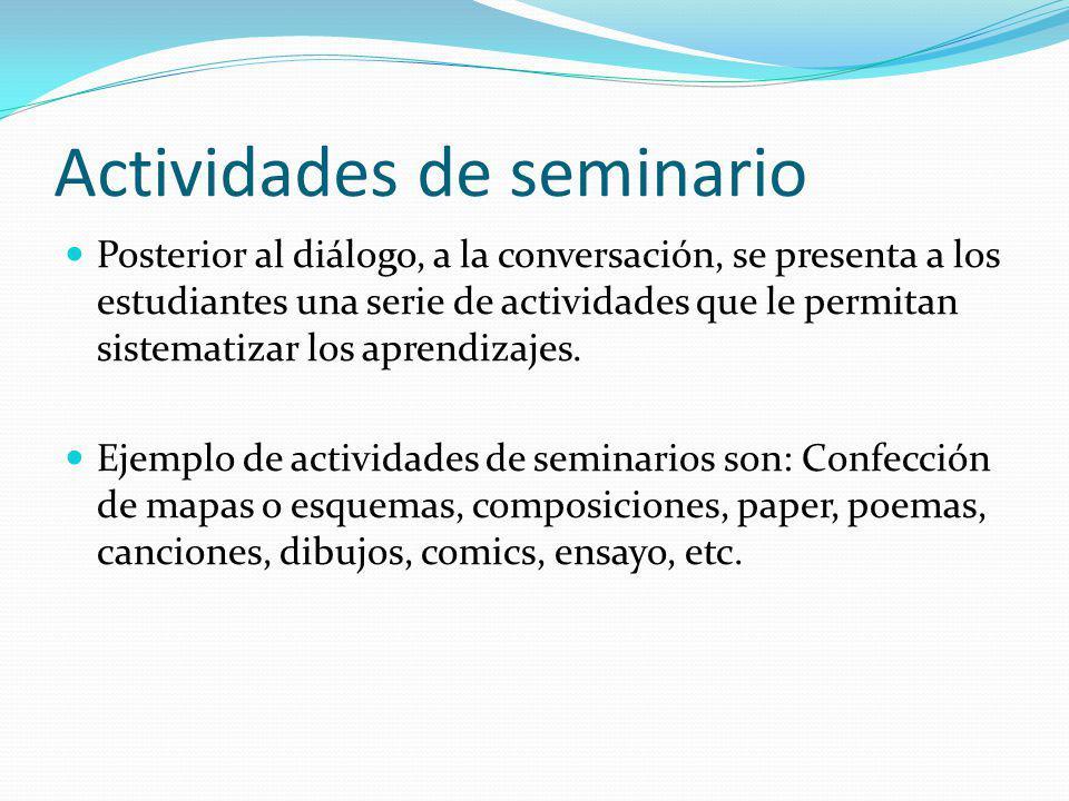 Actividades de seminario