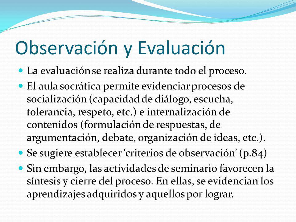 Observación y Evaluación