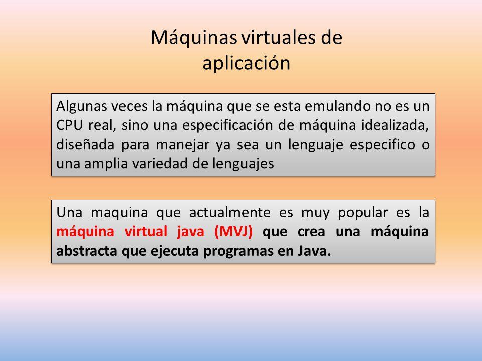Máquinas virtuales de aplicación
