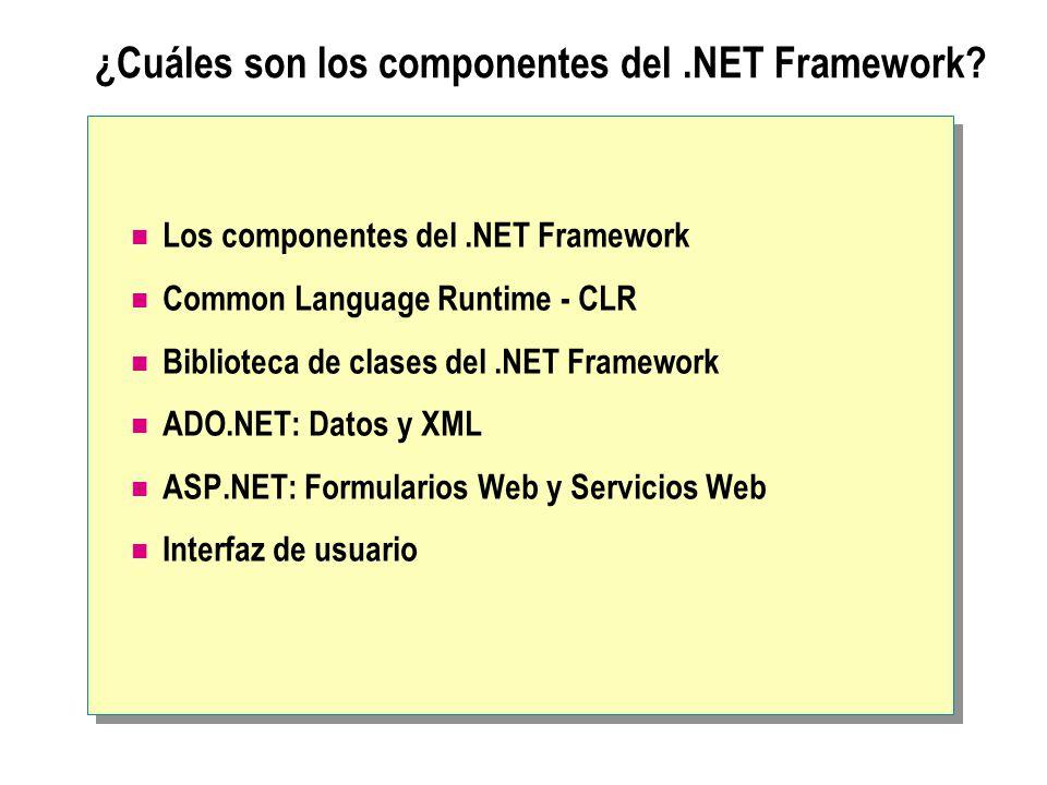 ¿Cuáles son los componentes del .NET Framework