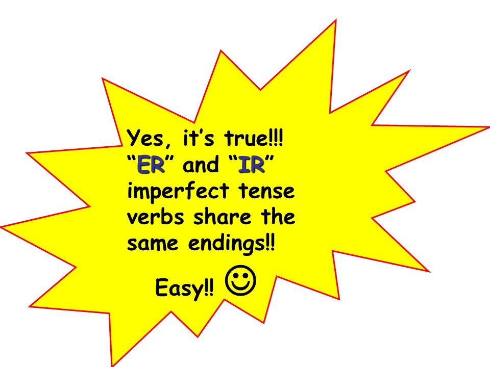 Yes, it's true!!! ER and IR imperfect tense verbs share the same endings!!