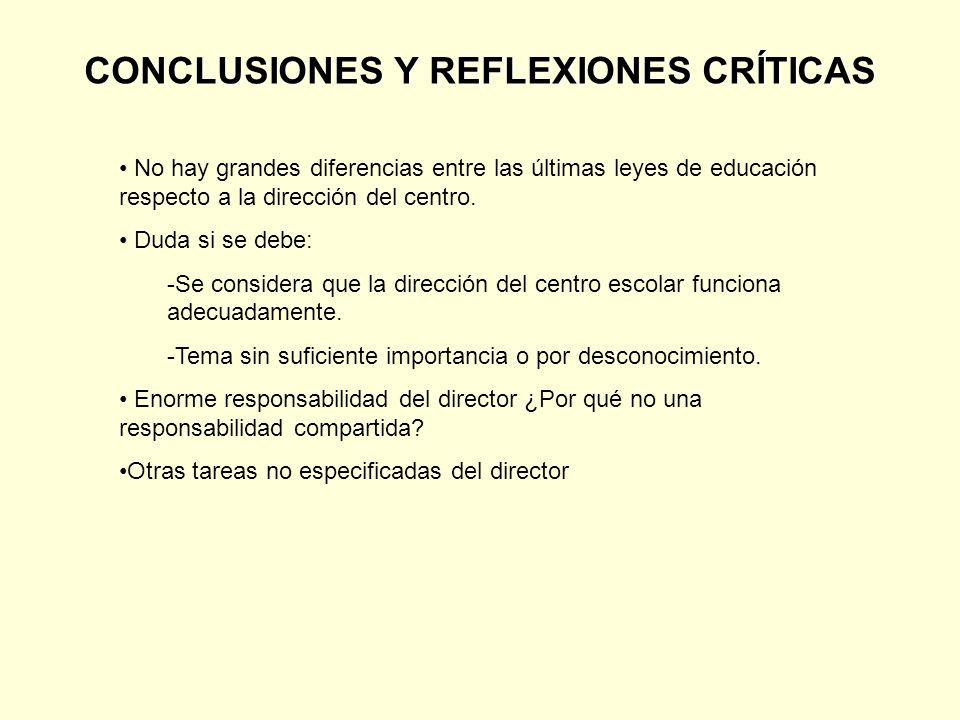 CONCLUSIONES Y REFLEXIONES CRÍTICAS