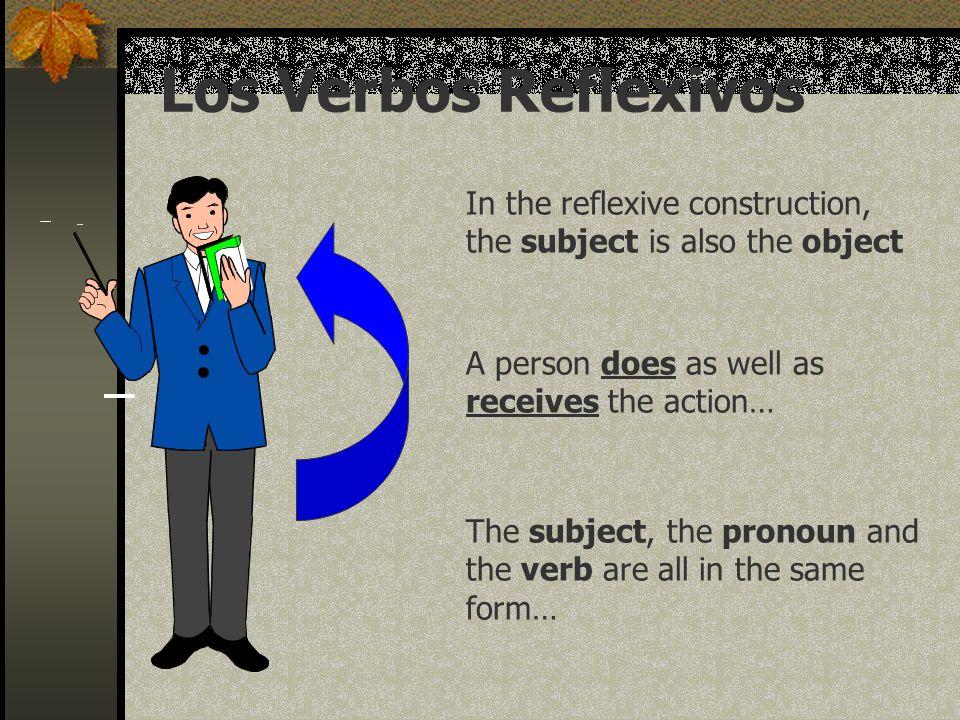Los Verbos Reflexivos In the reflexive construction,