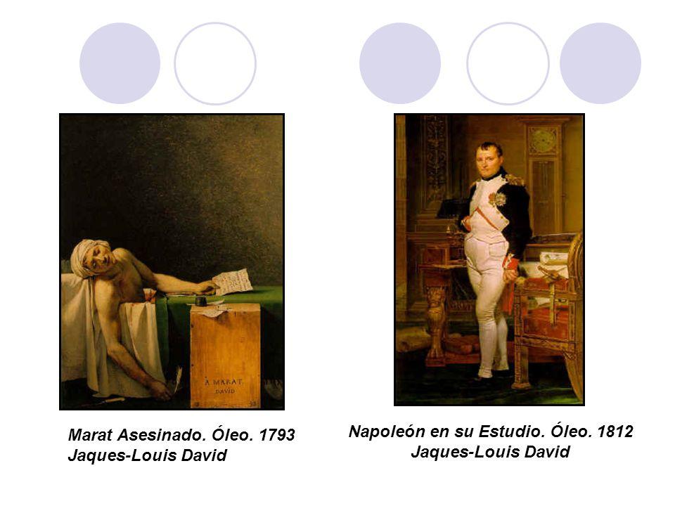 Napoleón en su Estudio. Óleo. 1812