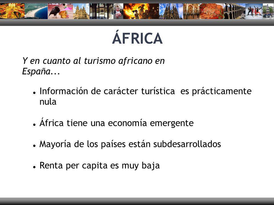 ÁFRICA Y en cuanto al turismo africano en España...