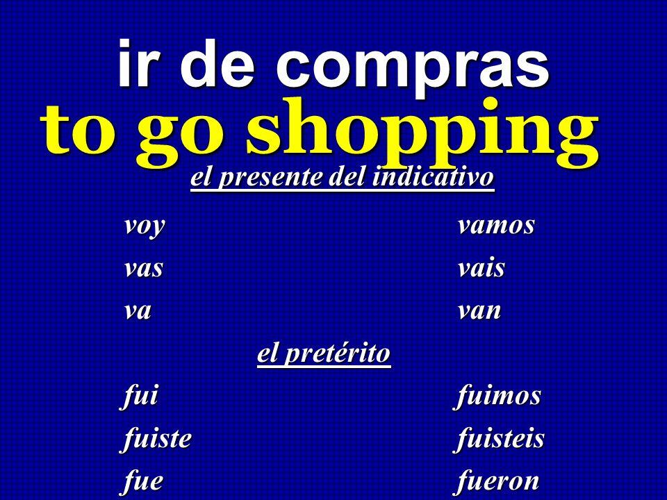to go shopping ir de compras el presente del indicativo voy vamos