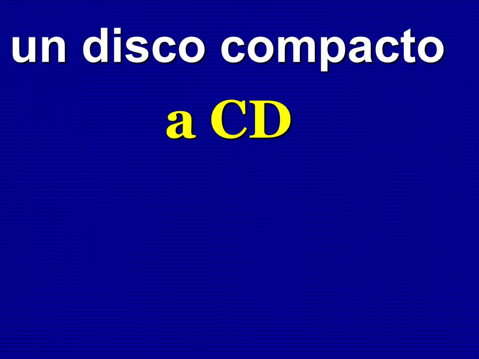 un disco compacto a CD