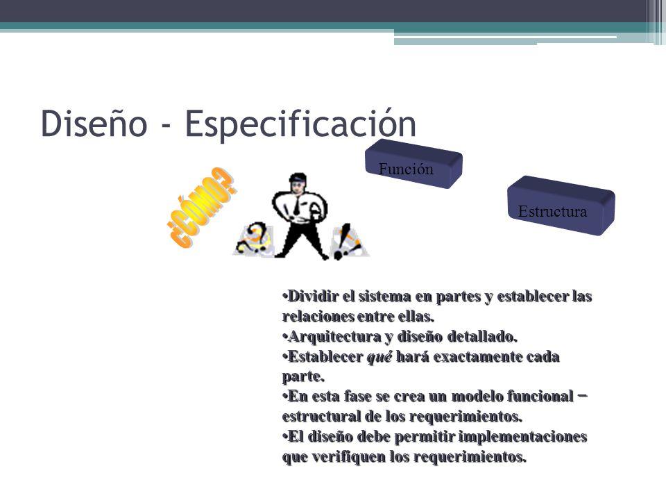 Diseño - Especificación