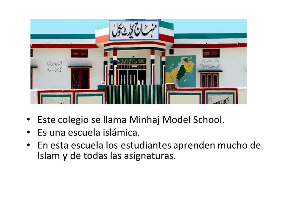 Este colegio se llama Minhaj Model School.
