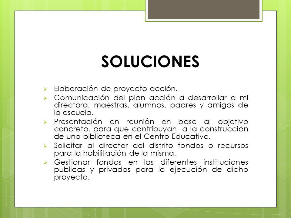 SOLUCIONES Elaboración de proyecto acción.
