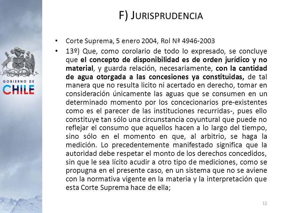 F) Jurisprudencia Corte Suprema, 5 enero 2004, Rol Nª 4946-2003.