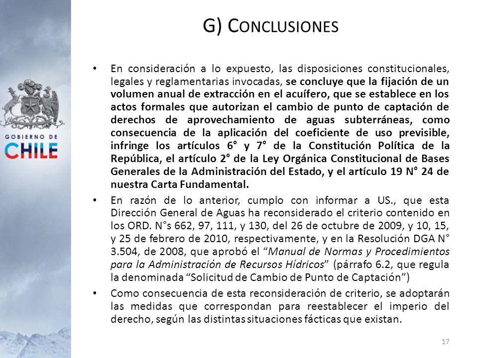 G) Conclusiones