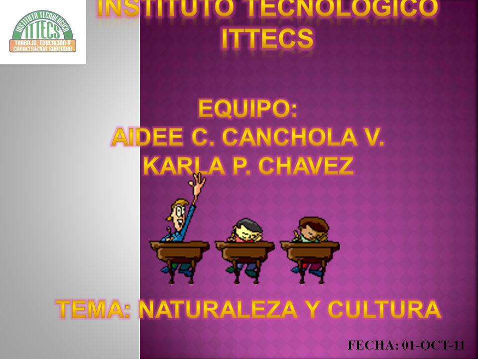 instituto tecnológico ittecs TEMA: NATURALEZA Y CULTURA