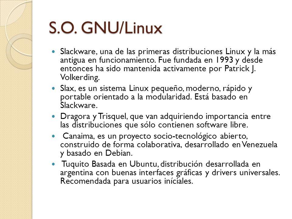 S.O. GNU/Linux